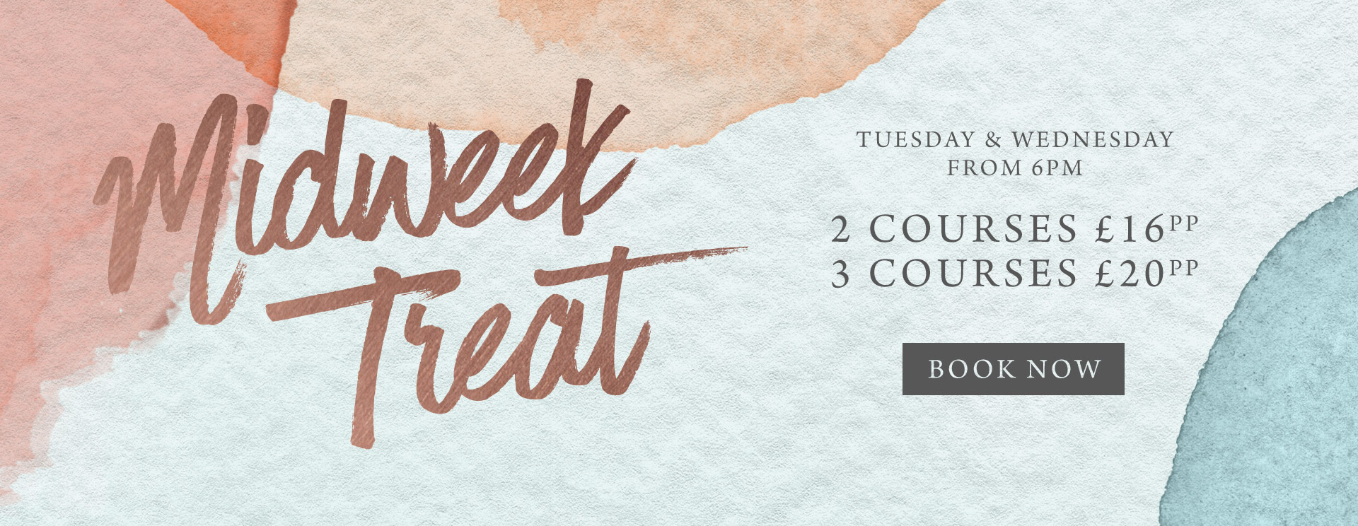 Midweek treat at The Goffs Oak - Book now